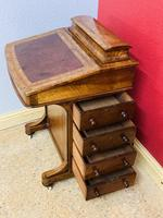 Walnut and Ambonya Davenport Desk (10 of 15)
