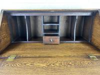 Mid 20th Century Art Deco Style Oak Bureau (3 of 15)