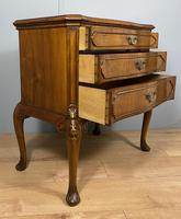 Shaped Walnut Three Drawer Table - Waring & Gillow (9 of 12)