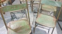 Six Metal Folding Dining Chairs (2 of 6)