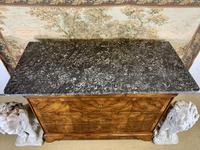 19th Century Burr Walnut Marble Top Commode (7 of 8)