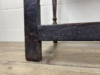 Antique Oak Two Drawer Side Table (14 of 14)