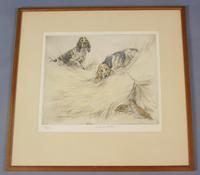 Hunting Dogs Field Spaniles G Vernon Stokes Signed Limited Edition Grouse