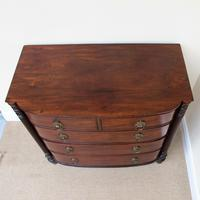 Mahogany Regency Bow Front Chest of Drawers (6 of 7)