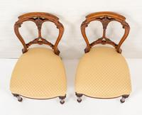 Pretty Pair of Victorian Walnut Chairs (4 of 7)