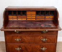 Cylinder Bureau Georgian Writing Desk Chest (5 of 12)