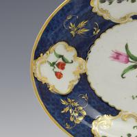 First Period Worcester Porcelain Scale Blue Oval Dish c.1770 (4 of 8)