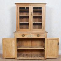 Arts & Crafts Pine Glazed Bookcase School Display Cabinet Dresser (7 of 12)