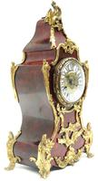 Wow! Phenomenal French Boulle Mantel Clock Red Shell floral Ormolu Mounts 8 Day Mantle Clock (7 of 10)