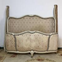 Antique French Full Corbeille King Size Bed Frame Curved Headboard & Footboard (13 of 13)