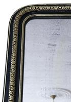 19th Century ebonised and gilt mirror overmantle wall (5 of 9)