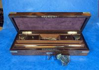 Victorian Rosewood Nickel Silver Bound Writing Box (14 of 16)