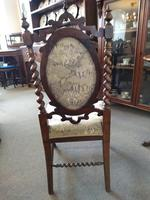 Victorian Carved Barley Twist Chair (5 of 7)
