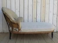 Antique French Chaise Longue Day Bed for re-upholstery (5 of 9)