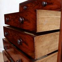 Cuban Mahogany Chest of Drawers 19th Century Tallboy (4 of 12)