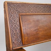 Charming Late Victorian Oak Hall Settle Bench (8 of 11)