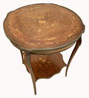 Wonderful Victorian Marquetry Occasional Table (2 of 8)