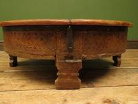 Antique Carved Indian Chakki Table Coffee Table with Lid (6 of 14)