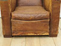 1930s French Leather Club Chair (7 of 13)