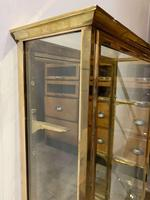 Pair of 1920s Brass Shop Display Cabinets (5 of 8)