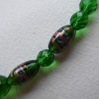 Green Foiled Glass Bead Necklace (5 of 7)