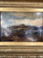 Antique Large Impressionist Landscape Oil Painting in Opulent Frame (4 of 10)