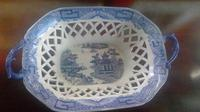 Antique Davenport Pottery Pearlware Latticed Worked Chestnut Basket (7 of 7)