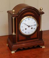 Mahogany & Satinwood Mantel Clock by Maple & Co (3 of 6)
