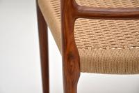 Pair of Danish Rosewood 82 Chairs by Niels Moller Vintage 1960's (11 of 13)