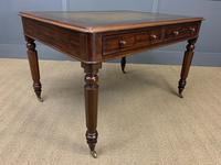Victorian Mahogany 4 Drawer Partners Writing Table (13 of 13)