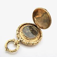 Rare Gold Georgian Novelty Mourning Vinaigrette c.1820 (4 of 6)