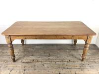 Victorian Antique Pine Farmhouse Kitchen Table (3 of 15)