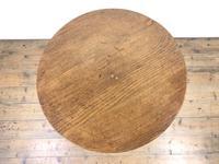 19th Century Oak Circular Tilt Top Tripod Table (9 of 11)