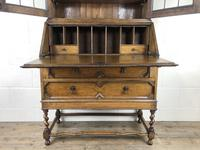 Early 20th Century Antique Oak Bureau Bookcase (8 of 17)