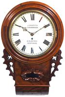 Rare Antique Drop Dial Wall Clock 8 Day Single Fusee Movement Signed John Griffith Carnarvon (2 of 5)