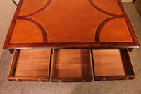 Writing Table/ Desk with 3 Drawers in Burl Walnut & Mahogany - 19th Century (8 of 10)