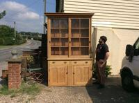 Very Large Antique Pine Dresser Sliding Glazed Doors (2 of 10)