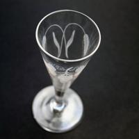 Good Georgian Stemware Hops & Barley Ale Glass 18th Century / 19th Century (2 of 6)
