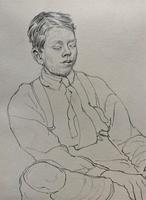 William Robert Hay - Original - Seated Student Portrait Pencil Drawing (6 of 12)