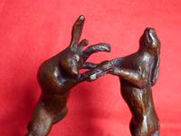 Boxing Hares on a Plinth (2 of 7)