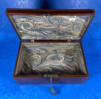 George III Solid Mahogany Box With Wonderful Inlaid Panels (11 of 18)