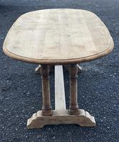French Bleached Oak Farmhouse Refectory Dining Table (6 of 18)