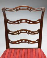 Pair of  Chippendale Period Ladderback Side Chairs (5 of 6)