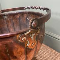 Unusual Arts & Crafts Copper Antique Coal Bucket (6 of 6)