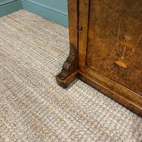 Spectacular Quality Victorian Figured Walnut Antique Davenport (8 of 9)