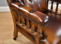Pair of Victorian Hand Dyed Leather Library Chairs (5 of 13)