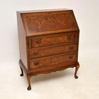Antique Burr  Walnut Writing Bureau (2 of 9)