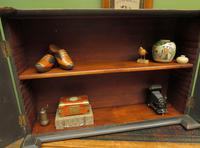Antique Victorian Gothic Black Painted Curio Display Cabinet (2 of 13)