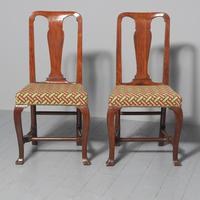 Antique Pair of George II Mahogany Side Chairs (2 of 10)