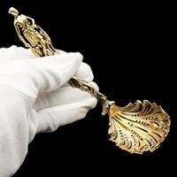 Victorian Silver Gilt Sugar Sifter Spoon 'diana The Huntress' Figure - Francis Higgins 1854 (19 of 23)